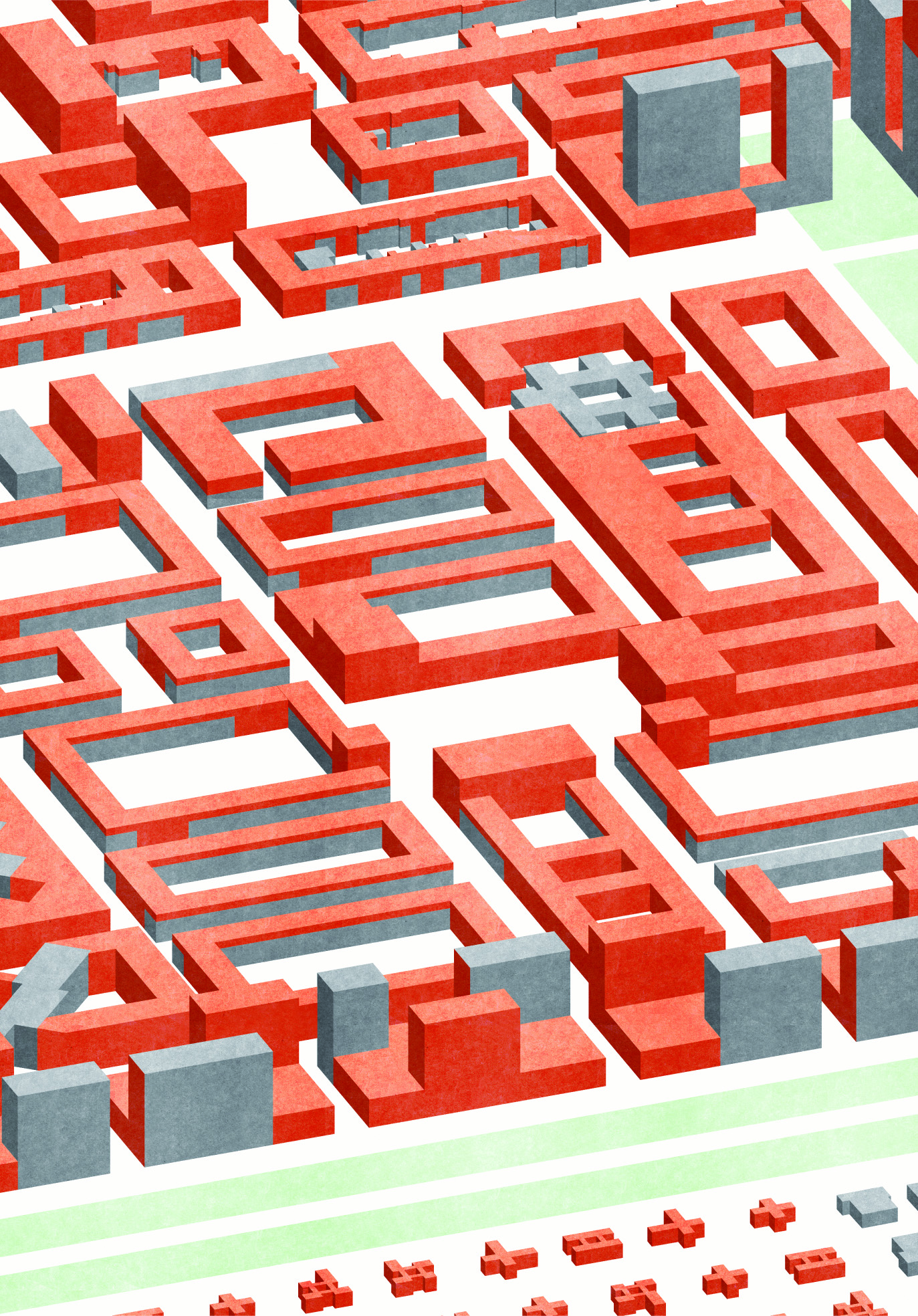 New Urban Inside Spaces: blocks, streets and squares